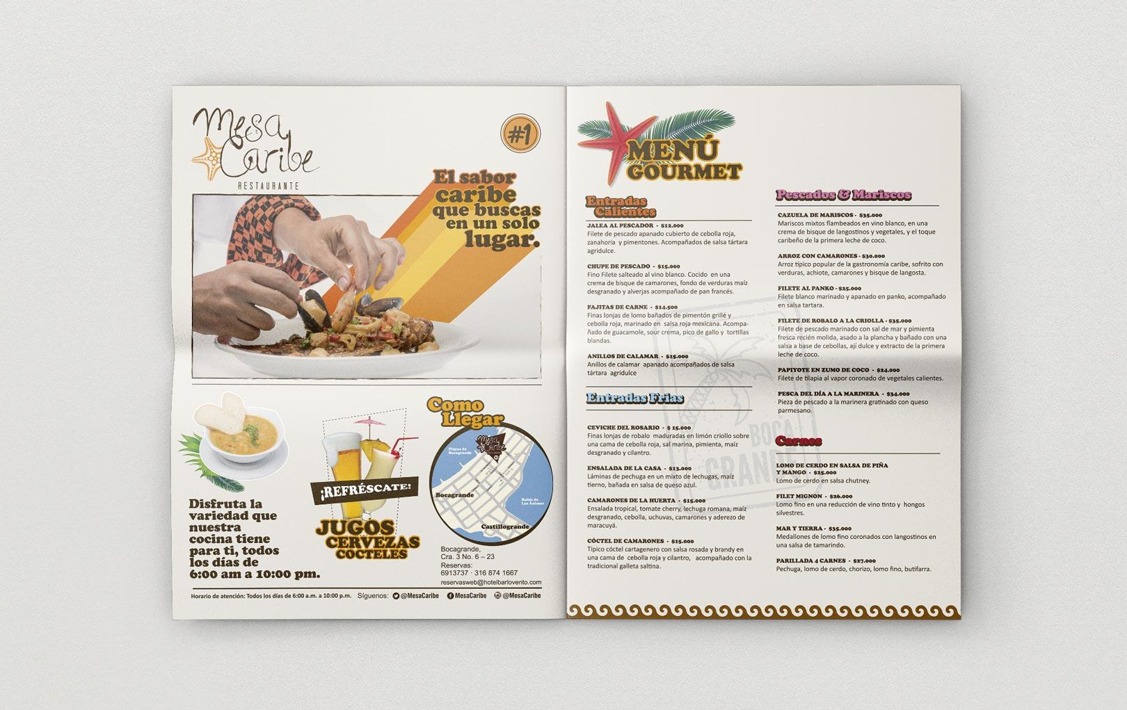 Plegable Restaurante Mesa Caribe - Trabajos Realizados Macondo