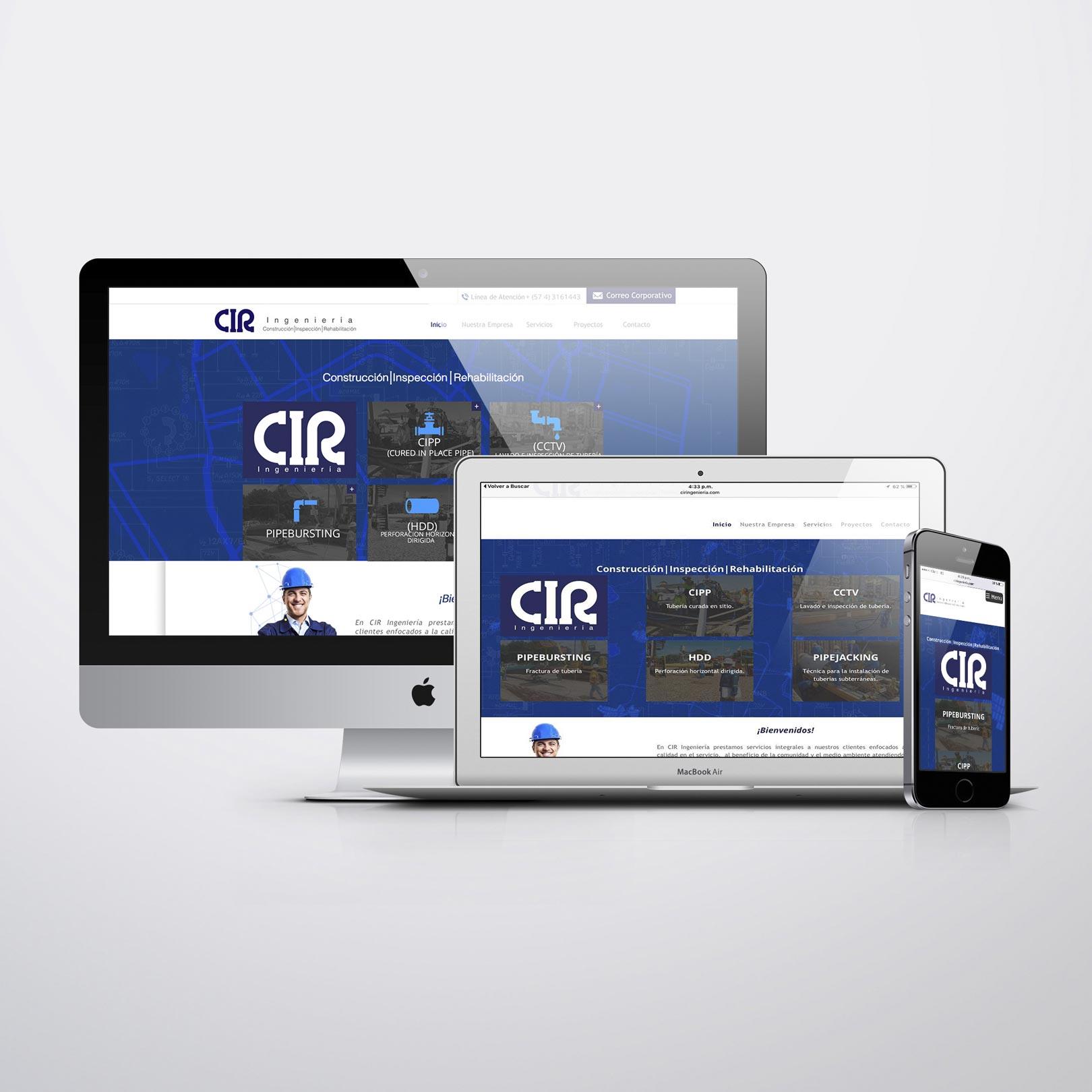 Diseño y Desarrollo Web  CIR Ingeniería - Trabajos Realizados Macondo