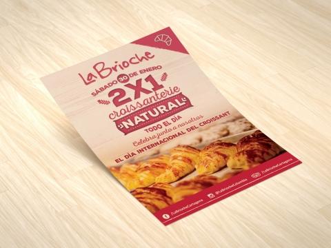 Flyer para la Brioche-Trabajos Realizados Macondo