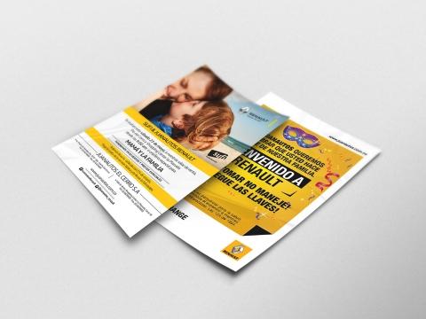 Diseño e impresión de flayer para Juanautos Renault