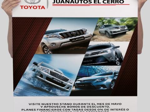 Diseño de pendon para Juanautos Toyota
