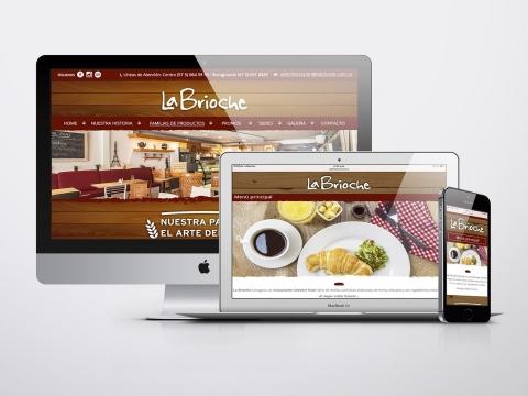 Diseño y Desarrollo Web Restaurante  La Brioche - Trabajos Realizados Macondo