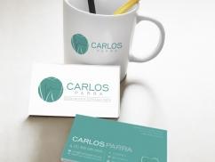 Logo y Tarjetas Carlos Parra - Trabajos Realizados Macondo