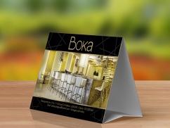 Habladores Publicitarios - Restaurante Boka - Trabajos Publicitarios