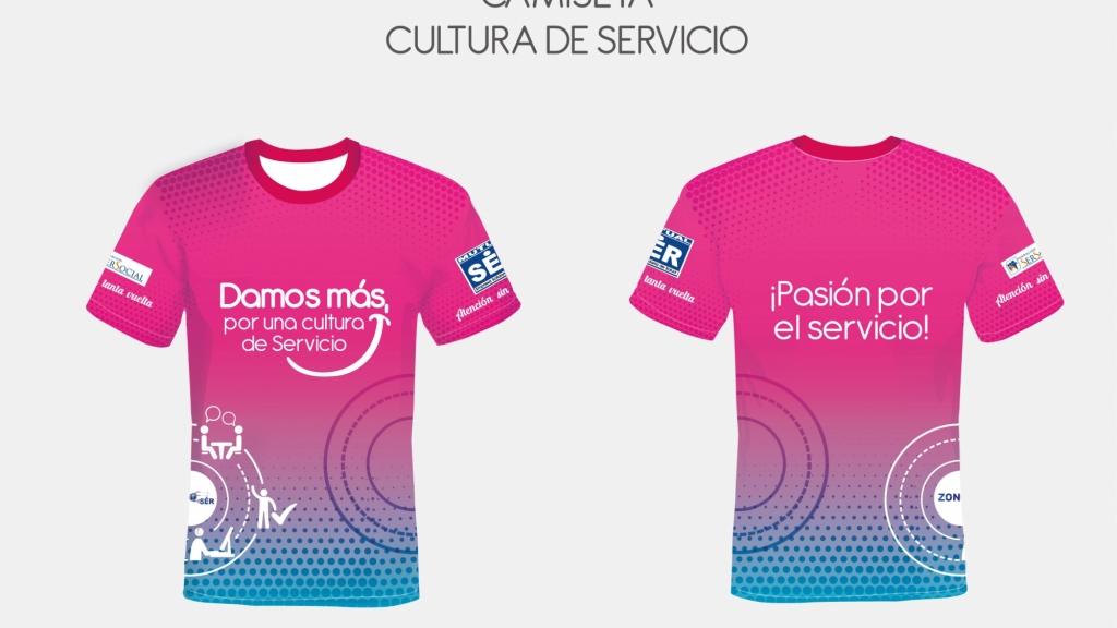 Camisetas Cultura De Servicio Mutual Ser- Comunicación estratégica