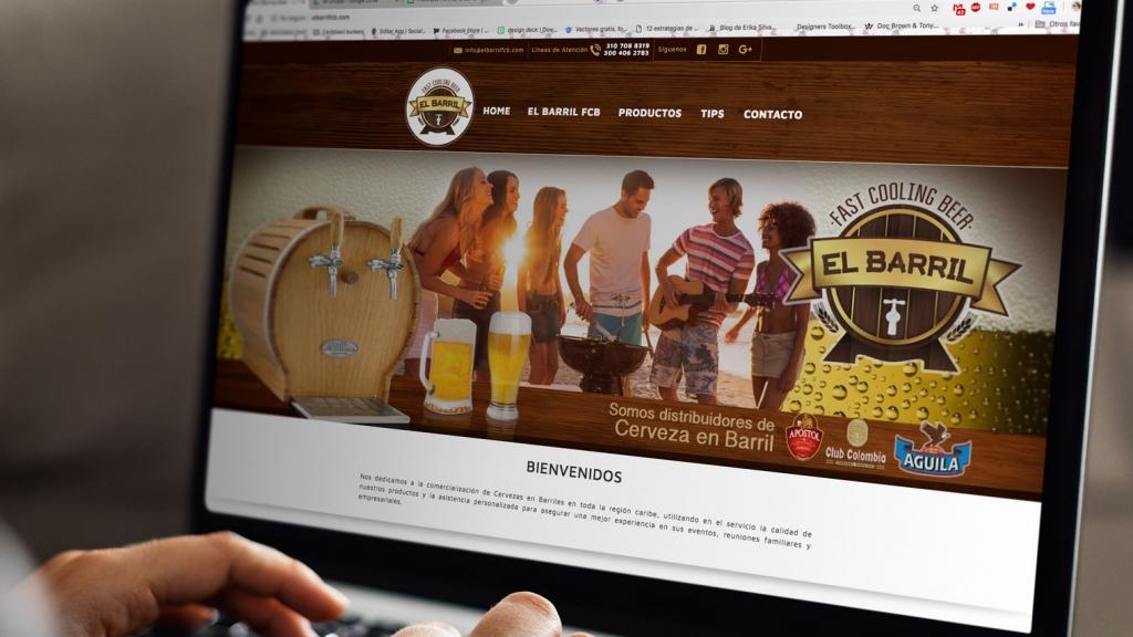 Creación de sitio web básico - Grupo Creativo Macondo