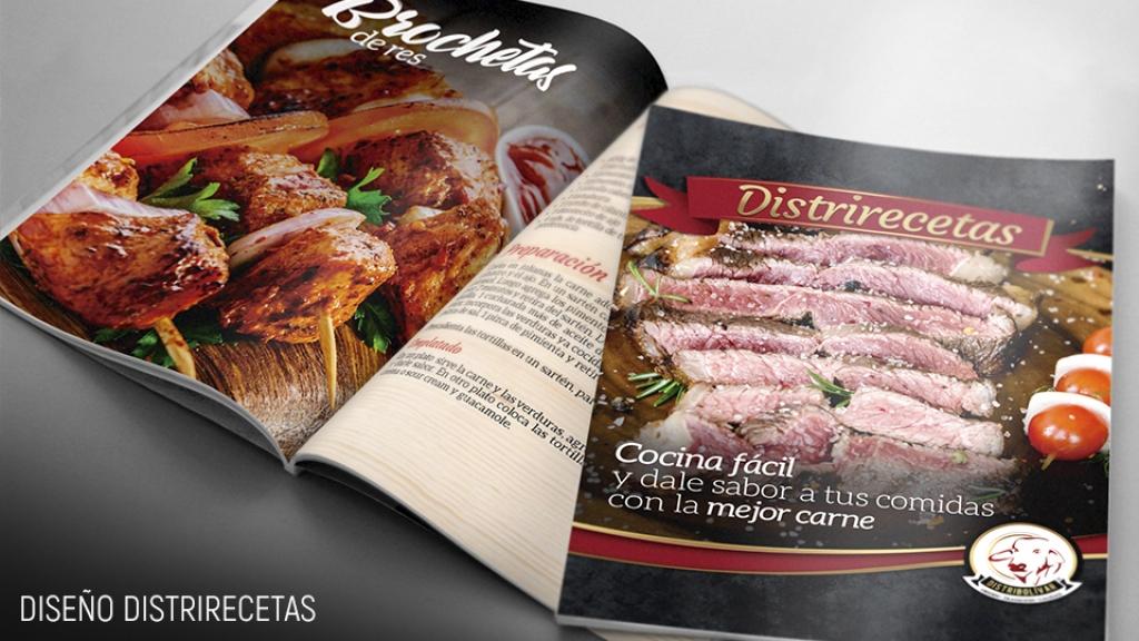 Diseño de cuadernillo de recetas - Distribolivar - Trabajos realizados