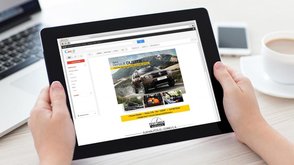 Diseño Mailing para Juanautos Renault - Trabajos Realizados Macondo