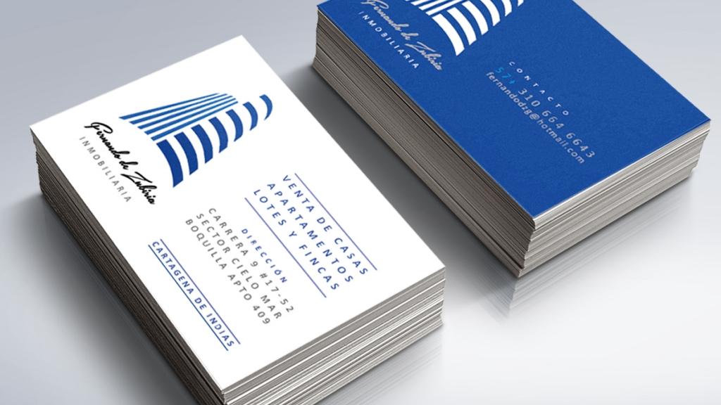 Tarjetas de presentación Fernando De Zubiria Inmobiliaria - Grupo Creativo Macondo