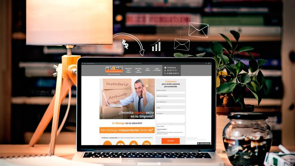 Diseño y desarrollo de página de aterrizaje para U-STORAGE - Clientes Macondo