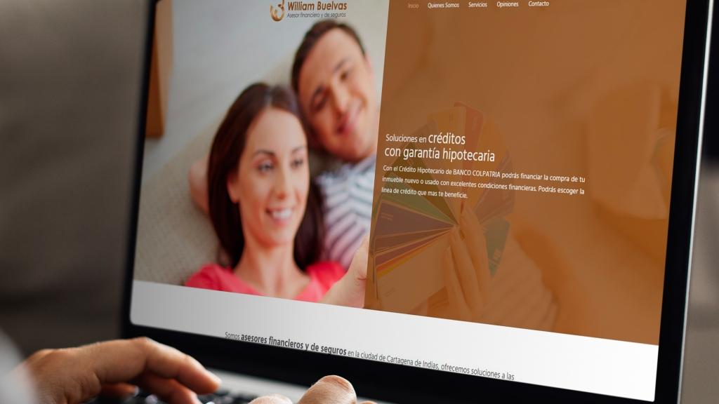 Desarrollo de sitio web para empresa de servicios financieros y de seguros